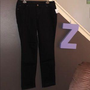 Massini 12 slim straight black pants